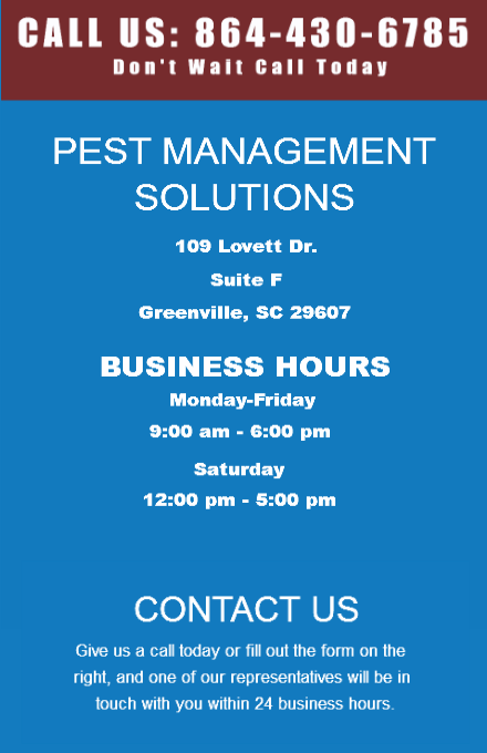 Contact Pest Management Solutions